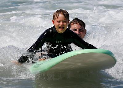 2017_09_23 Surf Camp 18 P2 Boy Blonde Hair WS Black BB Logo