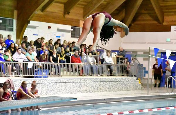 10/12/2019 Mike Orazzi | StaffrBristol Central's Christina Tomcak during the city swim meet on Saturday night.