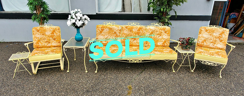 Vintage Wrought Iron Sofa Set