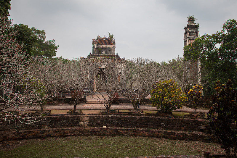 At the beautiful grounds of the tomb of Tu Duc.