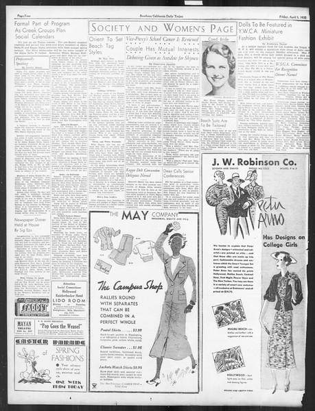 Daily Trojan, Vol. 26, No. 111, April 05, 1935