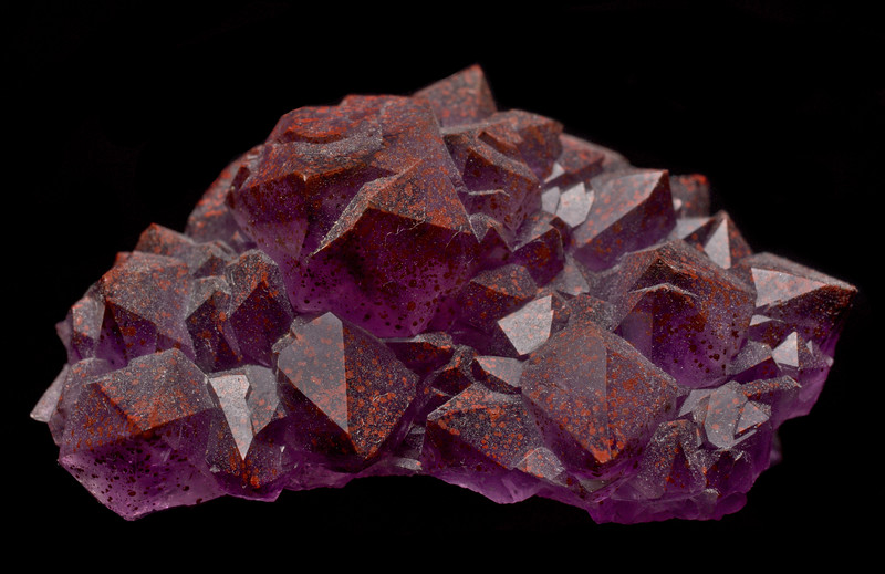 Amethyst with Hematite