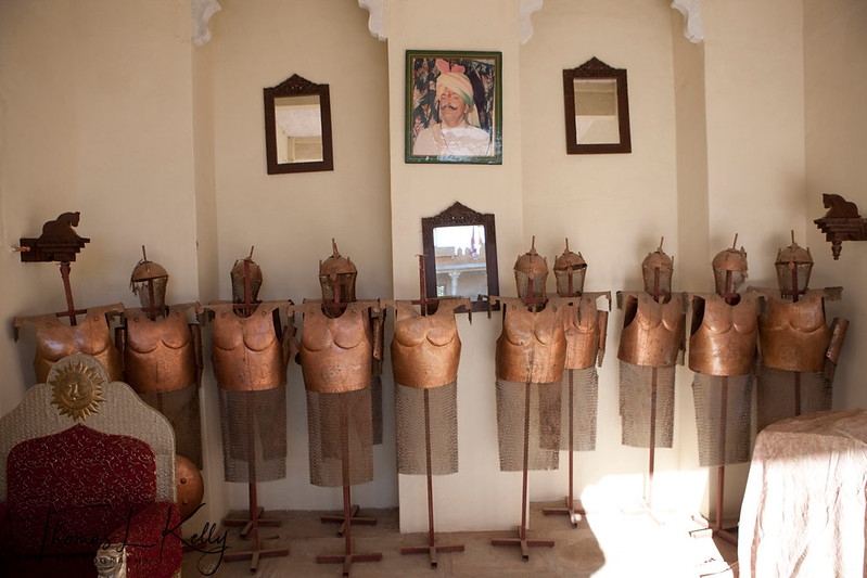 Armour room at Ajit Singh's horse stable.