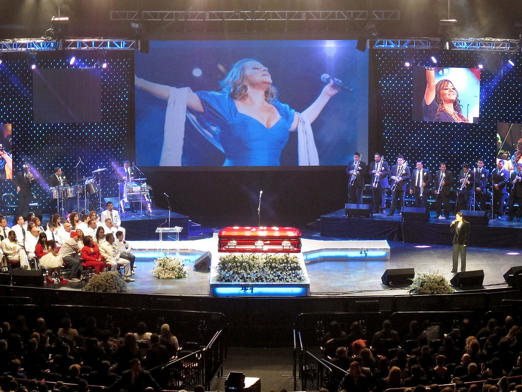 . The memorial service for Jenni Rivera at the Gibson Amphitheatre Wednesday, December 19, 2012, in Universal City. (Michael Owen Baker/Los Angeles Daily News)