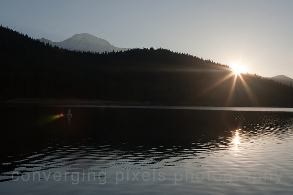 Sunrise at Lake Siskiyou.  7259