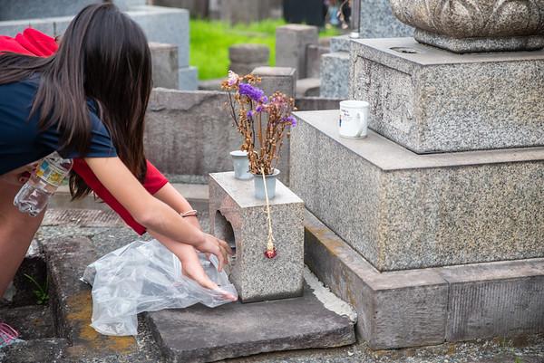 Gr. 7 Myokoji Cemetery Cleaning