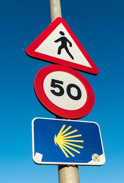Camino de Santiago Road Sign