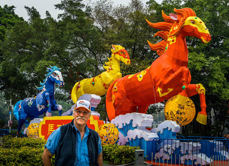 . It will be the Year of the Horse come next Friday when the Chinese New Year is celebrated worldwide. Here in Guangzhou they\'ve even created their iconic emblems in Bronco\'s colors. How could the Broncos fail to ring in the Year of the Horse without a Superbowl victory? And then there\'s me in my Broncos cap.  Kung Hei Fat Choy-Happy New Year and Go Broncos!