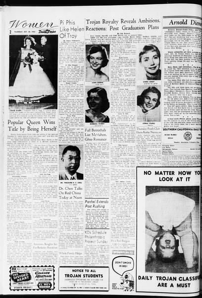 Daily Trojan, Vol. 47, No. 25, October 20, 1955