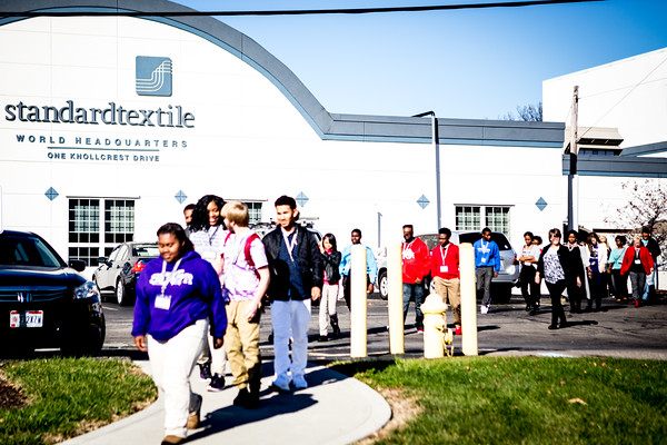 Cincinnati Public School visit to Standard Textile