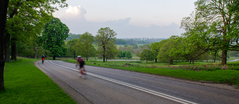 Cycling in London's Richmond Park
