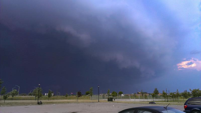Supercell Over Hamilton, Ontario