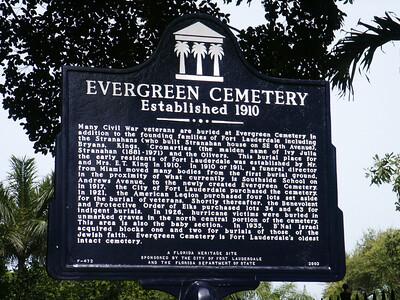 Evergreen Cemetery, Fort Lauderdale