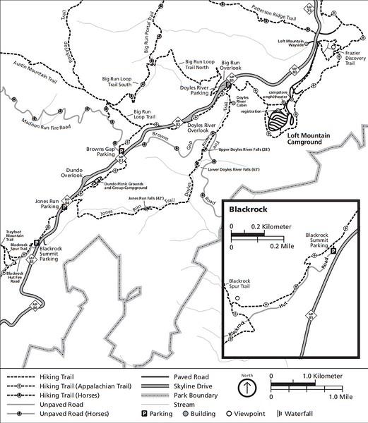 Shenandoah National Park (Trails - Loft Mountain Area)