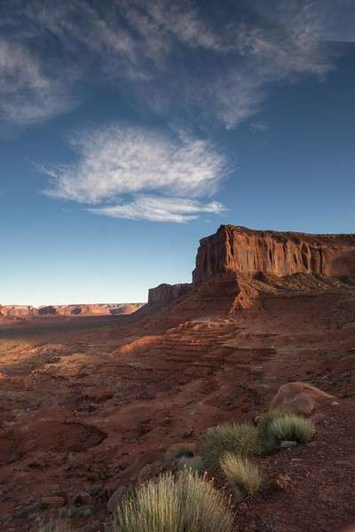 Mitchell Mesa (R) at Monument Valley