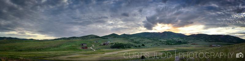 Lewis Peak Sunset July 2010