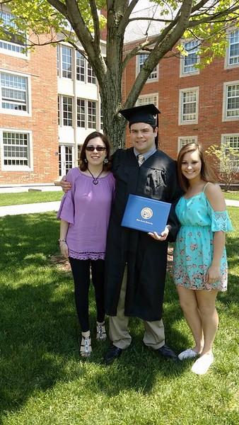JCU Graduation with Allison, John Robert and Elizabeth - May 22, 2016