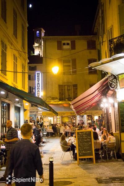 Cannes at night, Sapient Nitro Cannes