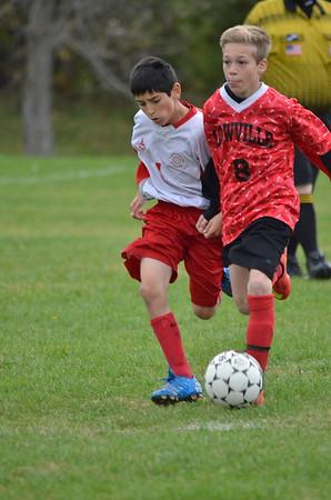 Boys 8th grade soccer vs Lowville 10/20/15