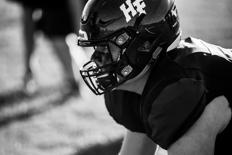 Holy Family Varsity Football vs. Mound Westonka, 8/29/19: Captain Seth Thompson '20 (52)