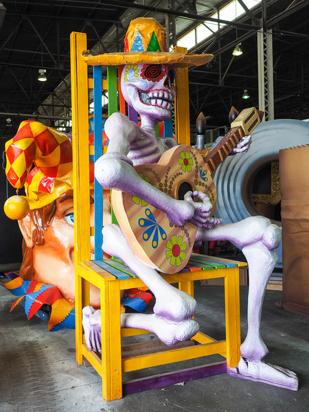 Props at Mardi Gras World