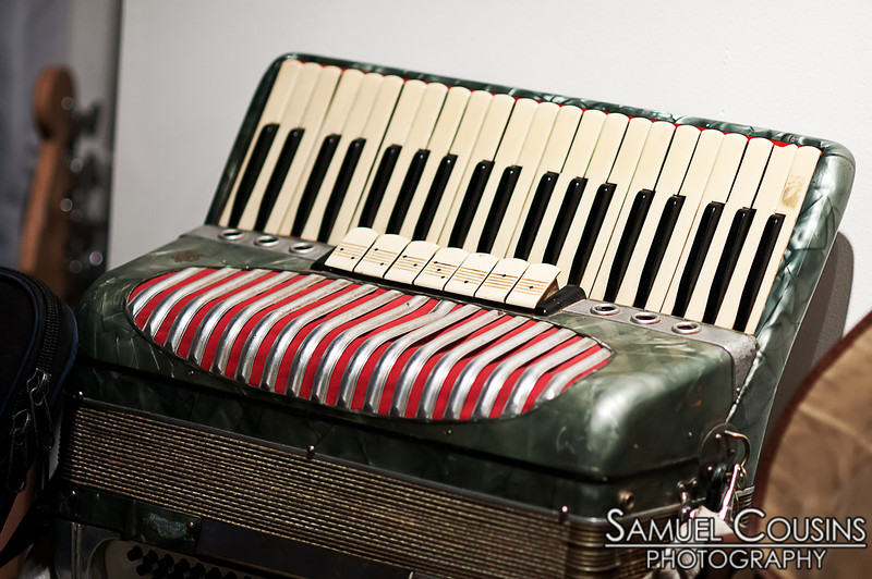 Someone's accordion. At the 48 Hour Music Festival, at Space Gallery.