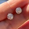 1.70ctw Old European Cut Diamond Clover Stud Earrings, GIA H-I SI 0
