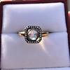 .53ctw Rose Cut Halo Ring, by Single Stone 19