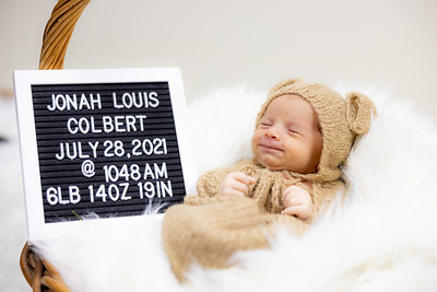 Jonah Jr newborn photo's 8/2/2021