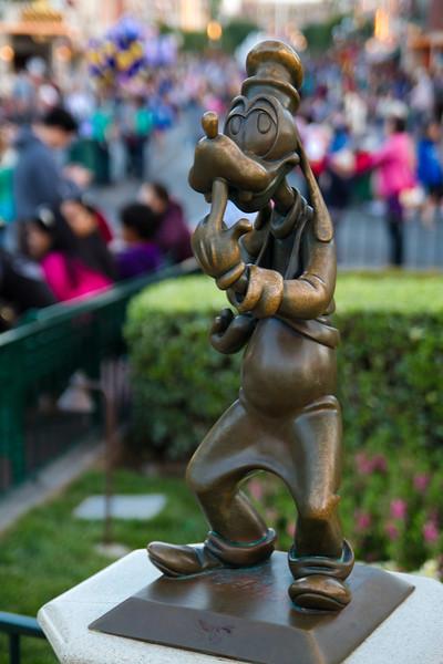 Goofy Statue