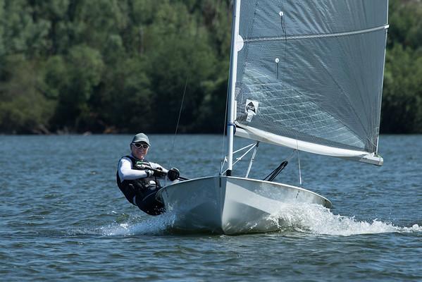 Solo sailing at Hunts Sailing Club