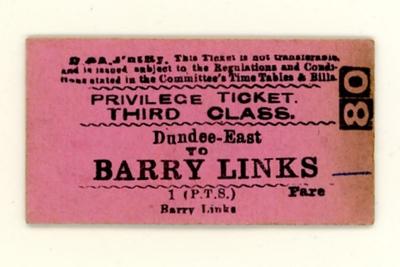 Edmondson card railway tickets