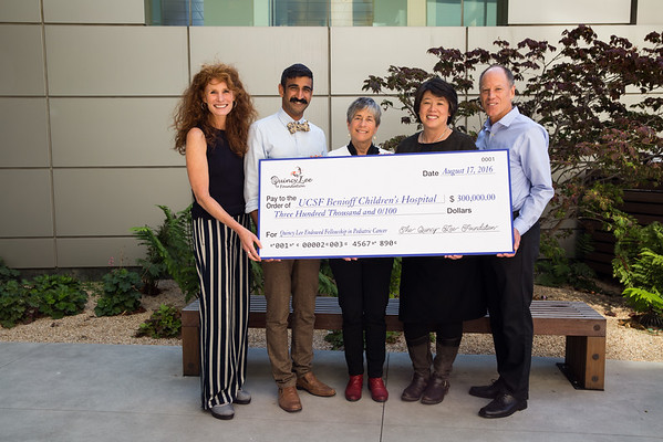 UCSF: Quincy Lee Foundation Check: 08.17.16