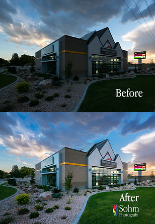 Architectural Editing Before and after