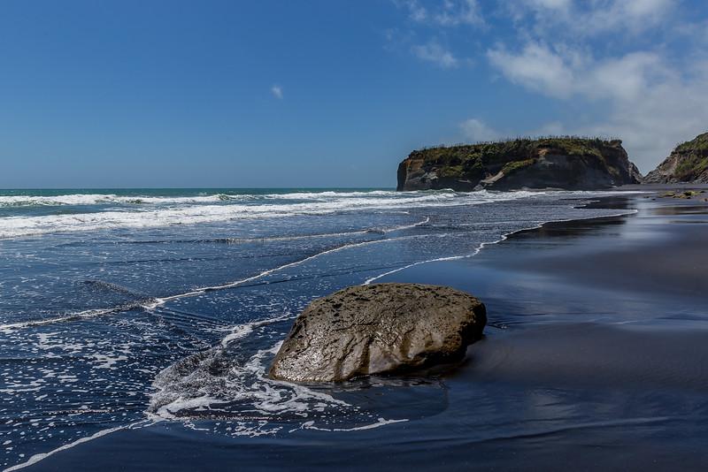 Am Strand beim Rapanui Stream