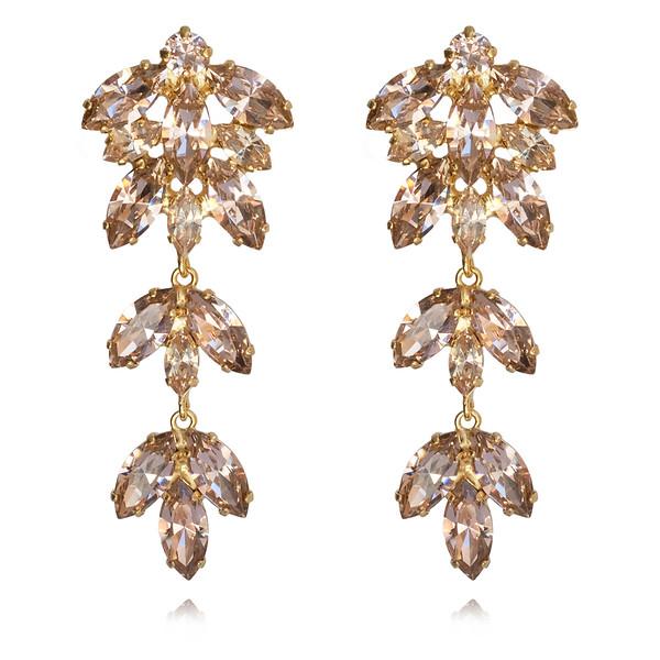Nyx Earrings / Vintage Rose + Silk / Gold
