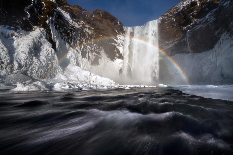 Skogafoss Winter Rainbow Landscape Photography Iceland_2.jpg