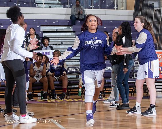 Broughton girls varsity basketball vs Millbrook. February 15, 2019. 750_7236