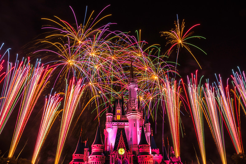 """Pink and Flashy"" - Cinderella's Castle, Magic Kingdom - Walt Disney World   Recommended Print sizes*:  4x6  