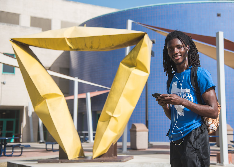 """Islander Christopher Tucker took over the pokemon gym, titled """"Big Yellow"""" for Team Mystic."""