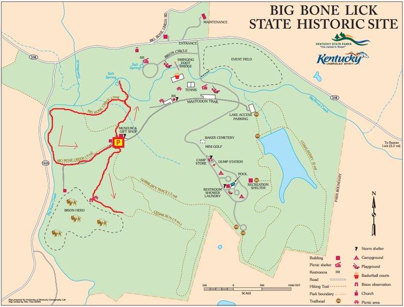 Big Bone Lick State Historic Site Hike Route Map