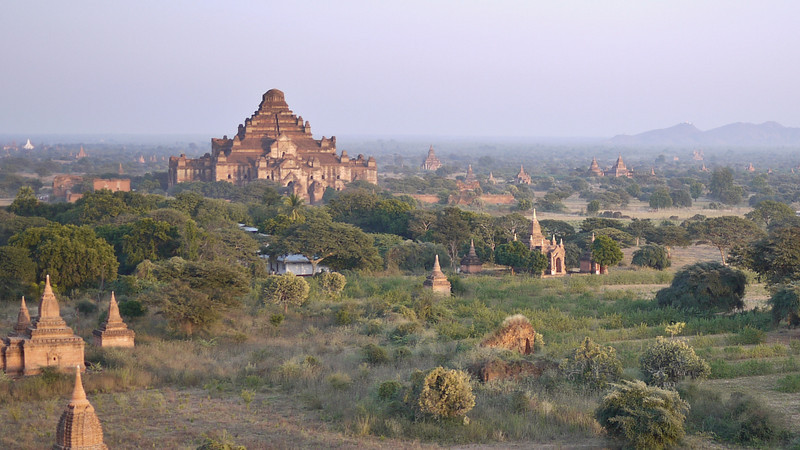 Sunset in Bagan, Burma (Myanmar) from Shwesandaw Pagoda