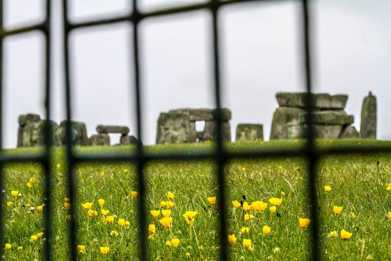 Stonehenge thru a fence