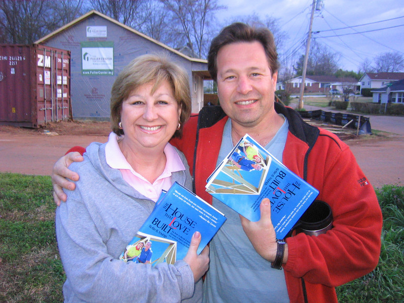 08 03-14 Georgia (NJ) and Matthew (TN) are happy to receive personalized copies of THE HOUSE THAT LOVE BUILD. lcf