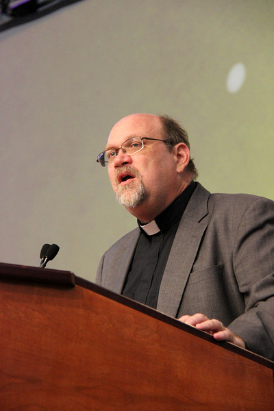 The Rev. Dan Rift, director of ELCA World Hunger and Disaster Appeal, gives a report.
