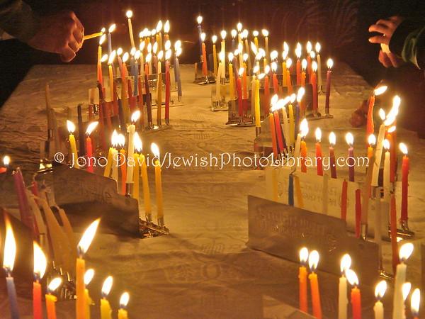 JAPAN, Hyogo Prefecture, Kobe. Hanukkah Party & Services @ Ohel Shelomo Synagogue, December 28, 2008. (2008)
