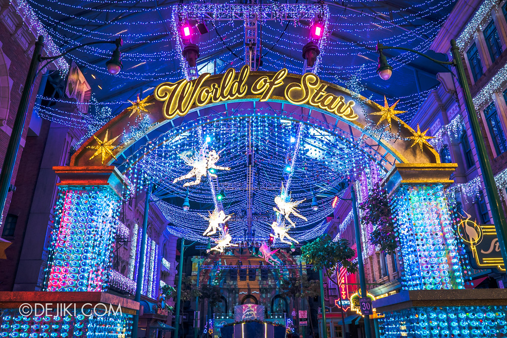 Universal Studios Singapore - A Universal Christmas event 2017 / World of Stars archway
