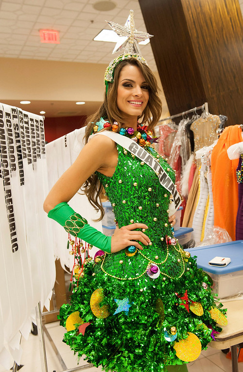 . Miss Guatemala 2012 Laura Godoy poses in the wardrobe area at the Planet Hollywood Resort and Casino in Las Vegas, Nevada December 5, 2012. The Miss Universe 2012 competition will be held on December 19. REUTERS/Valerie Macon/Miss Universe Organization L.P/Handout