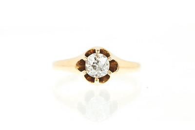 Victorian 14K and Diamond Engagement Ring