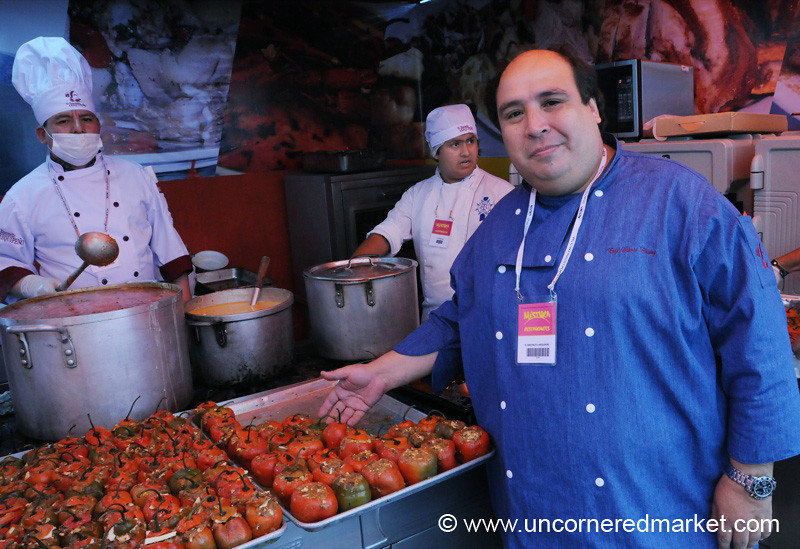 Showing Off His Peppers - Mistura Gastronomy Festival in Lima, Peru